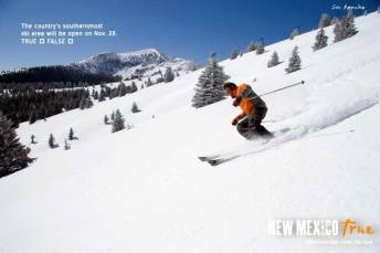 Country Southernmost Ski Area Advertising of New Mexico True Winter Campaign