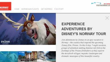 Dedicated Microsite for Frozen Norway Adventure Campaign by Visitnorway