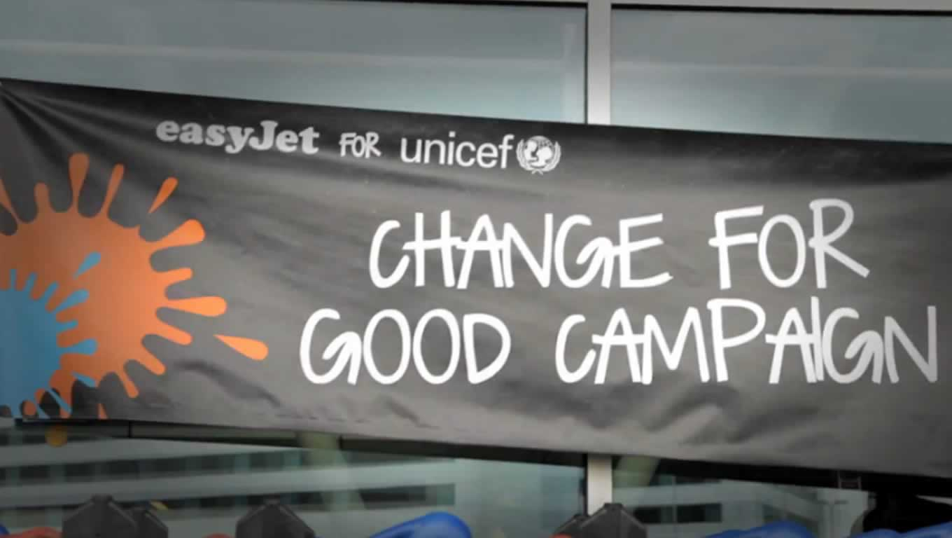 Indoor Advertising of Change for Good Winter Campaign for Syria by easyJet and UNICEF