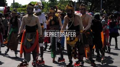 Inline Skates Performance, Culture Parade and Flower Carnival, Surabaya
