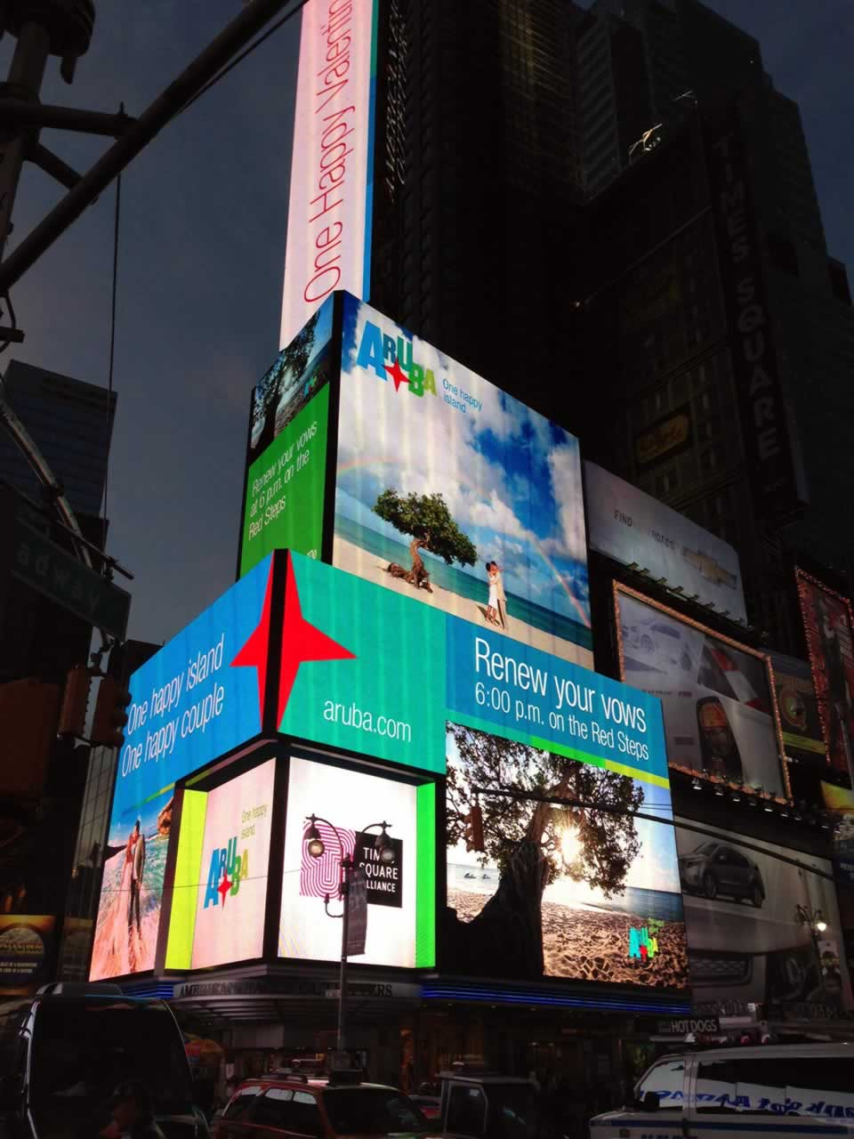 Outdoor Advertising Campaign of Aruba Tourism in Times Square NYC