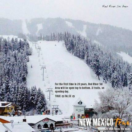 Red River Ski Area Winter Advertising Campaign of New Mexico True