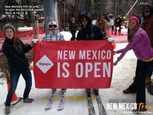 Sipapu Ski and Summer Resort Advertising of New Mexico True Winter Campaign