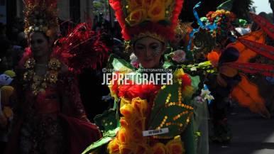 SMP Negeri 15 Performance, Culture Parade and Flower Carnival, Surabaya
