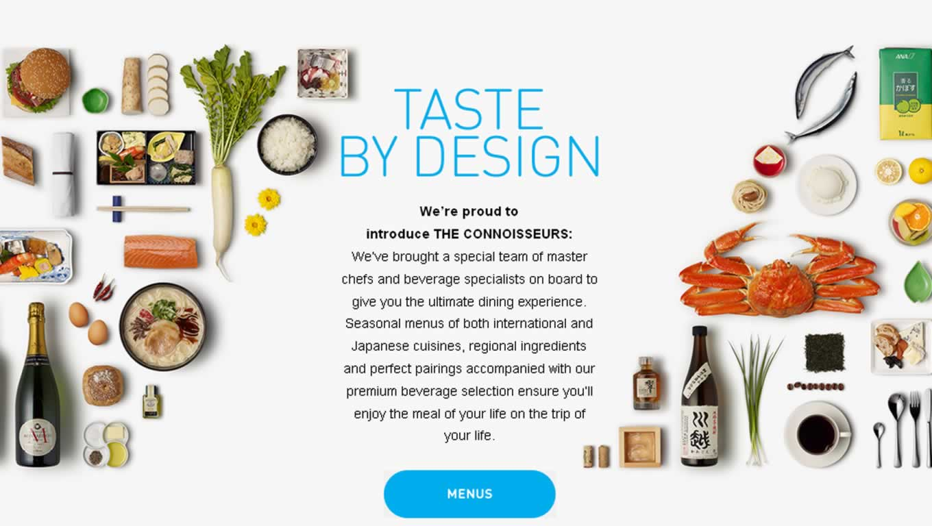 Taste by Design, By Design Campaign by All Nippon Airways