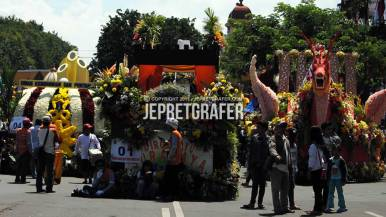 The Floats of Surabaya Culture Parade and Flower Carnival, East Java