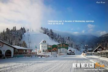 Wednesday Openings Advertising of New Mexico True Winter Campaign