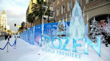 White Carpet of Frozen World Premiere in Hollywood