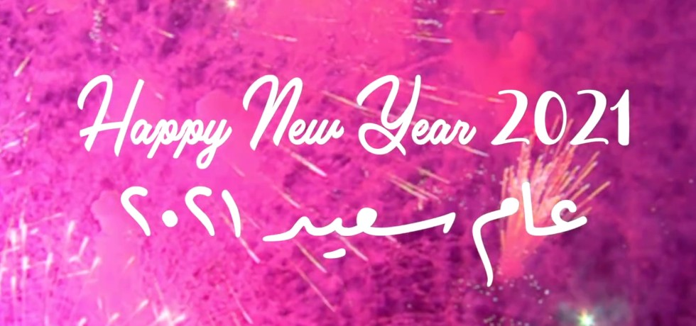 Happy New Year 2021 from Egypt, The Land of Beauty