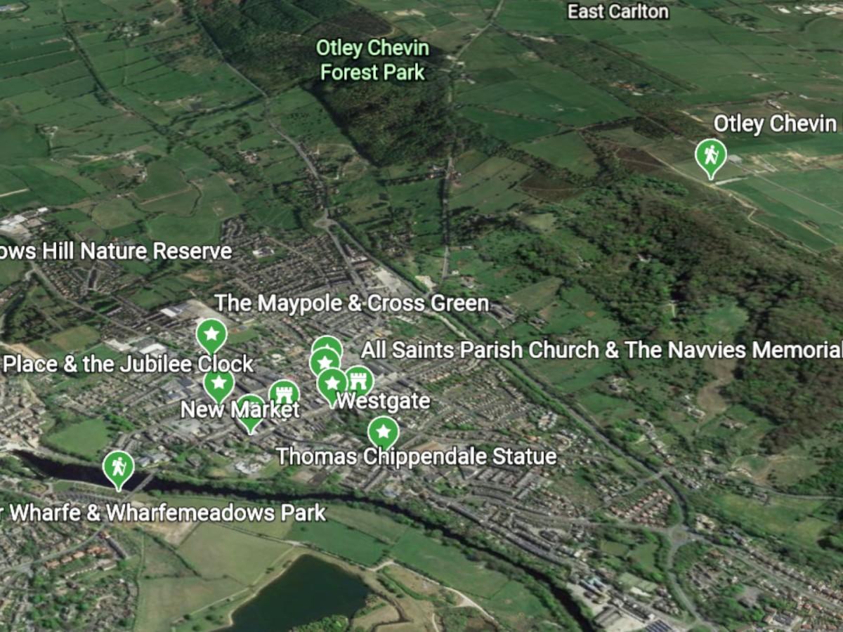 Otley's Virtual Walking Trails Tours via Google Earth
