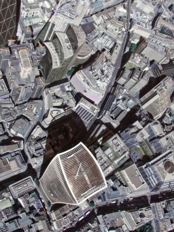 Aerial View, The Square Mile of London, UK