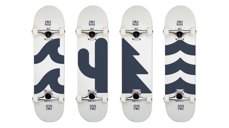 Baja California Rebrand, Merchandise Skateboard