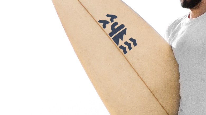 Baja California Rebrand, Merchandise Surfboard