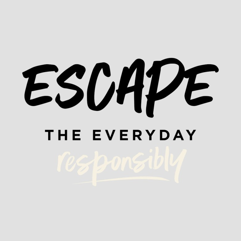 Escape The Everyday Responsibly Logo - Black and Meringue