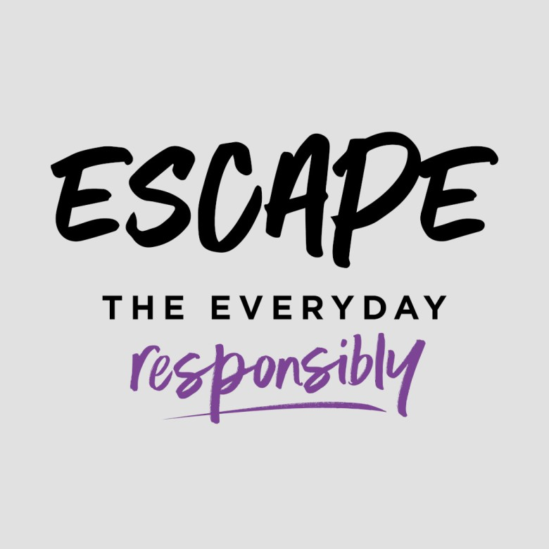 Escape The Everyday Responsibly Logo - Black and Purple
