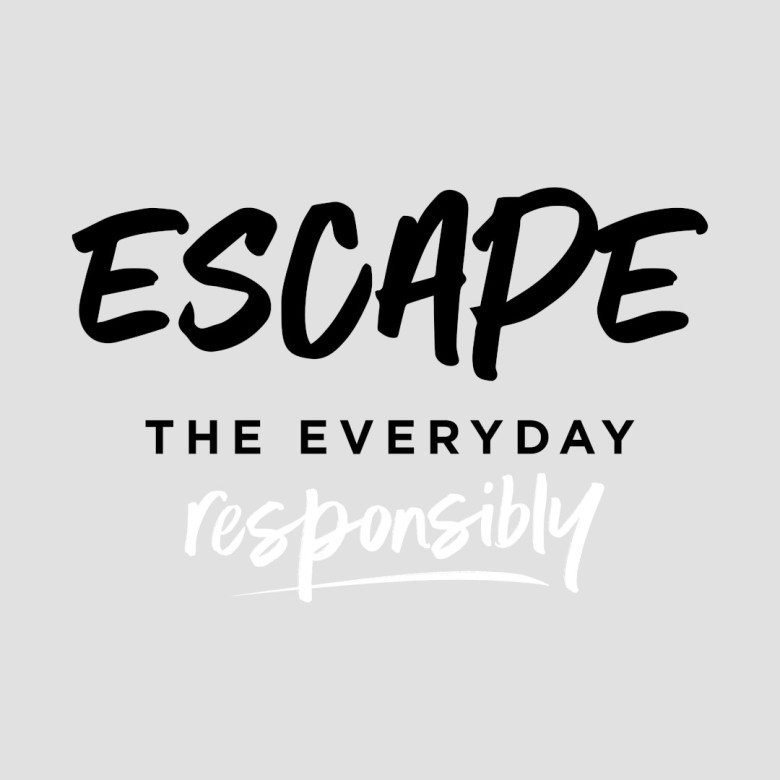 Escape The Everyday Responsibly Logo - Black and White