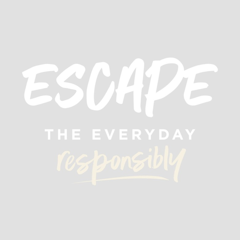 Escape The Everyday Responsibly Logo - White and Meringue