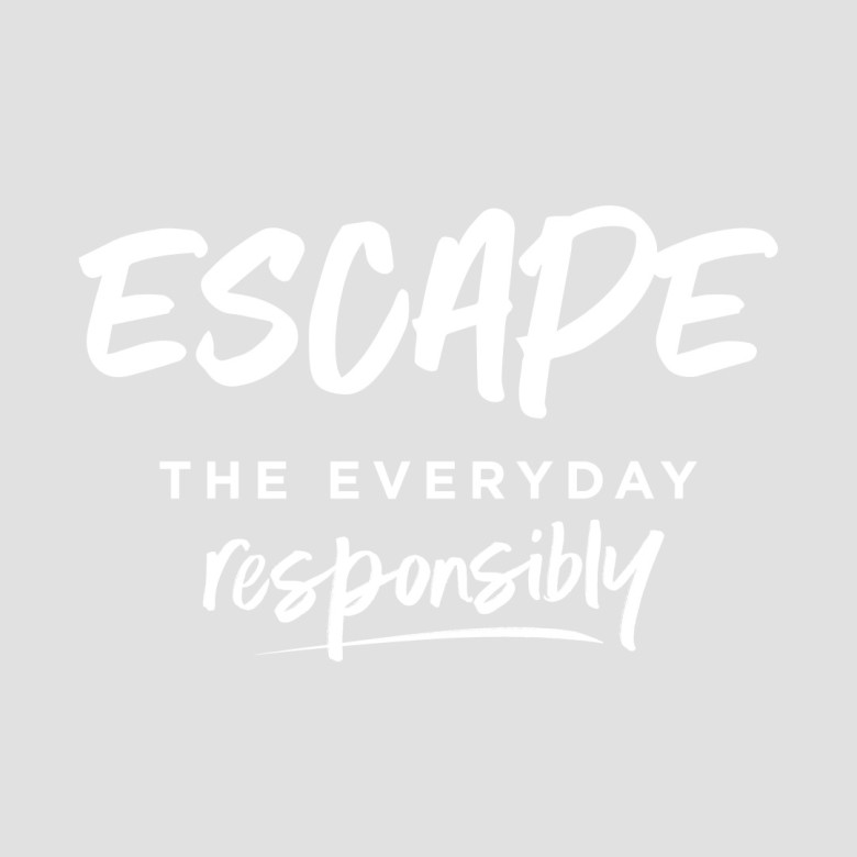 Escape The Everyday Responsibly Logo - White and White