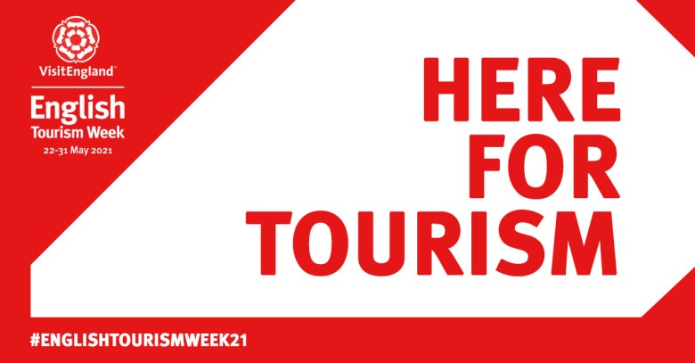 Here for Tourism, English Tourism Week 2021 - Toolkit on Red and White