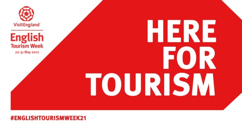 Here for Tourism, English Tourism Week 2021 - Toolkit on White and Red